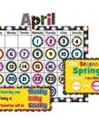 Fancy Circles Calendar Bulletin Board Set