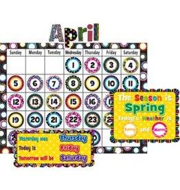 Fancy Circles Calendar Bulletin Board Set