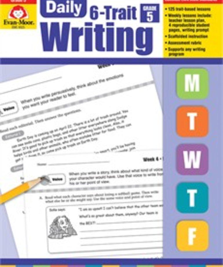 Evan-Moor Daily 6 Trait Writing- Grade 5