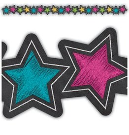 Chalkboard Brights Stars Die-Cut Border Trim