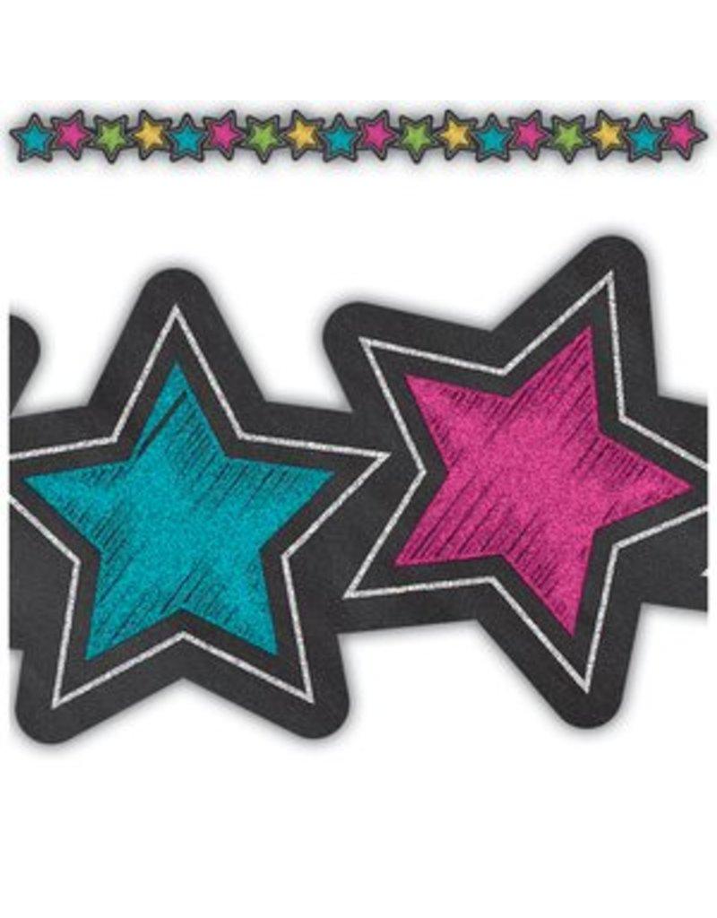 Chalkboard Brights Stars Die-Cut Border Trim