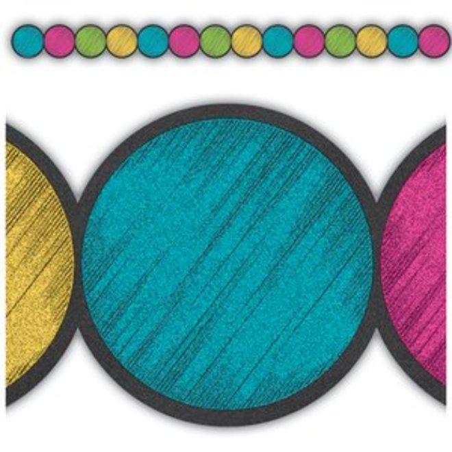 Chalkboard Brights Circles border