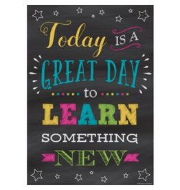 Chalkboard Brights Today is a Great Day to Learn...poster