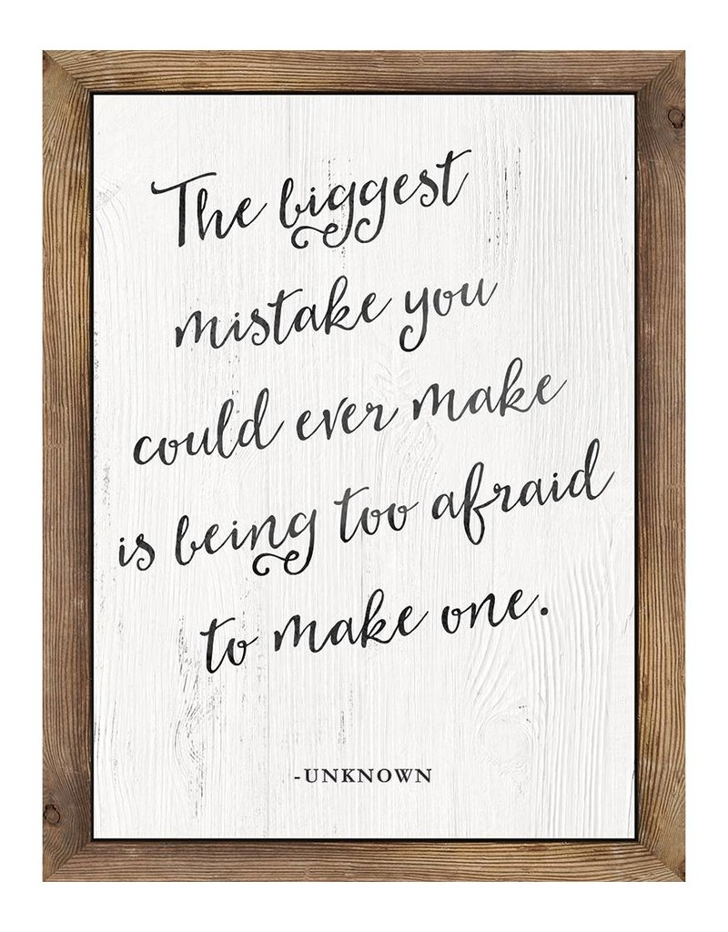 The BIggest Mistake...poster