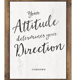 Your Attitude Determines Your Direction..poster