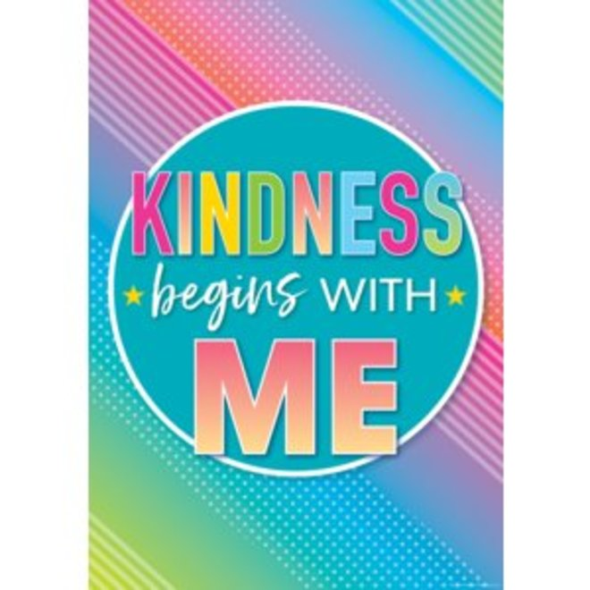 Colorful Vibe Kindness Begins with Me-Poster
