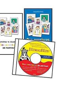 'Des aventures de partout' French Book & CD set