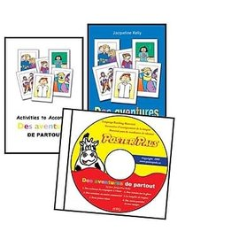 'Des aventures de partout' French Book & CD set