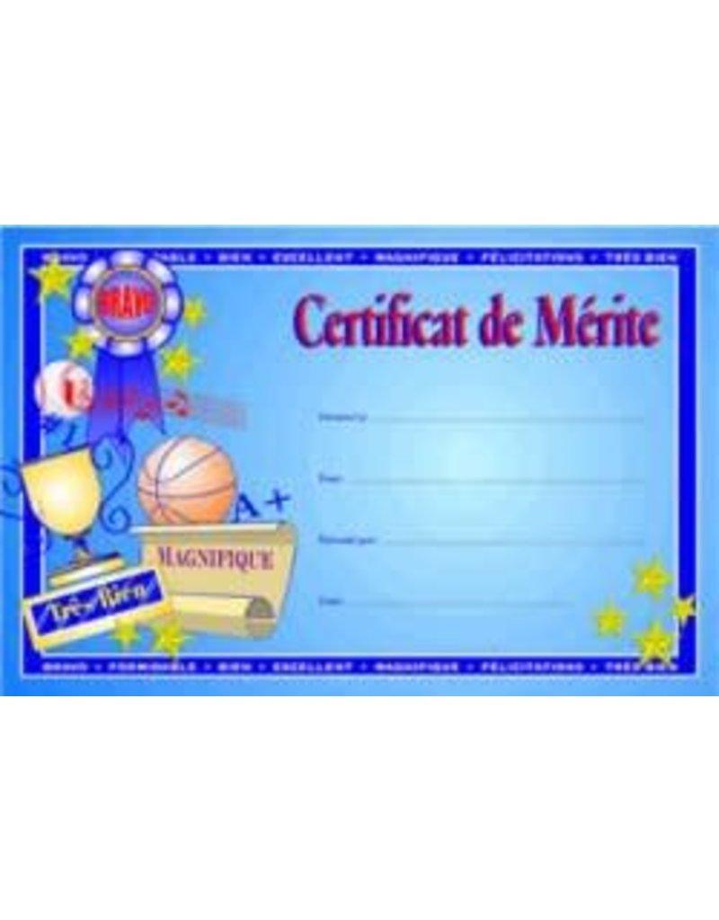French Certificate Pad- Certificat de merite