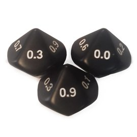 10-sided tenths dice(.0-.9)