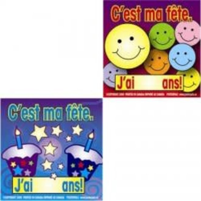 French Stickers - C'est ma fête!