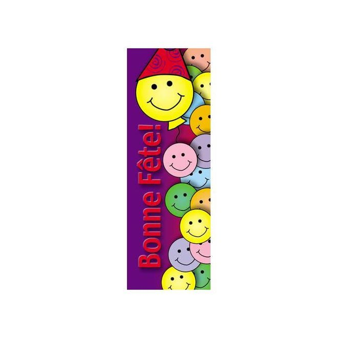 French Bookmarks - Birthday (Happy Face)
