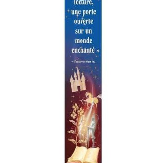 French Bookmark - Mauriac reading quote