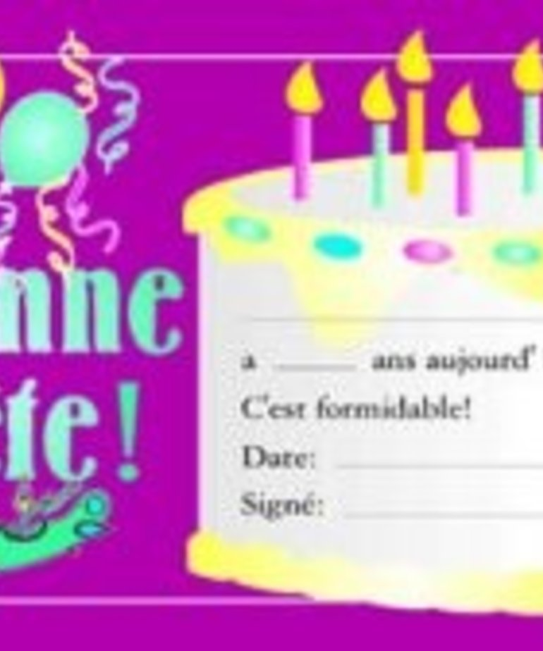 French Certificate Pad - Bonne Fete