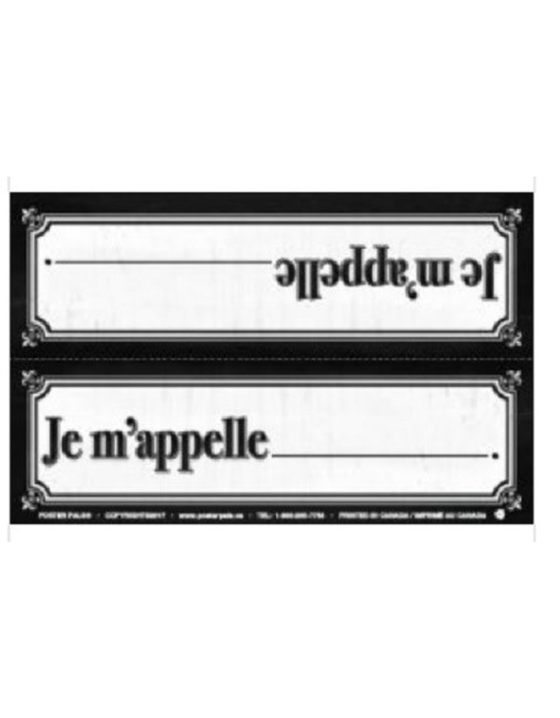 French Name Plates - Je m'appelle