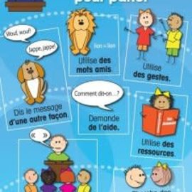 French Poster - Des Strategies pour parler
