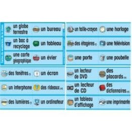 French Poster - Cartes du vocabulaire de la classe