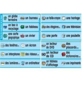 French Posters - Cartes du vocabulaire de la classe