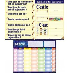 French Calendar Pals Laminated
