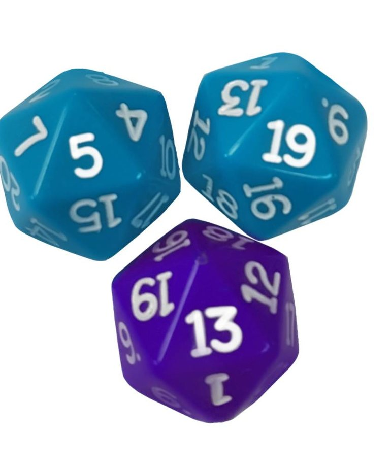 20 sided dice(turquoise,purple)