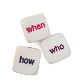 5 W's question dice