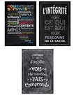 French Inspire U poster set