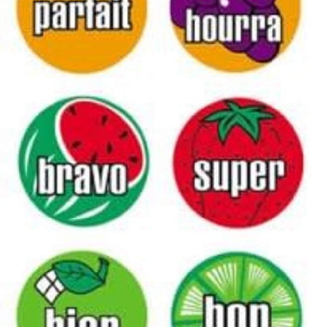 French Mini Fruit Stickers