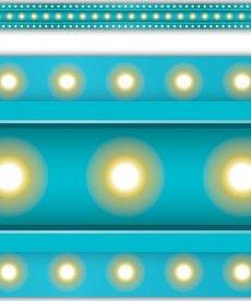 Marquee Light Blue Border Trim
