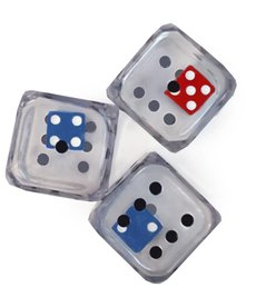 Regular double demo dice (blue,red)