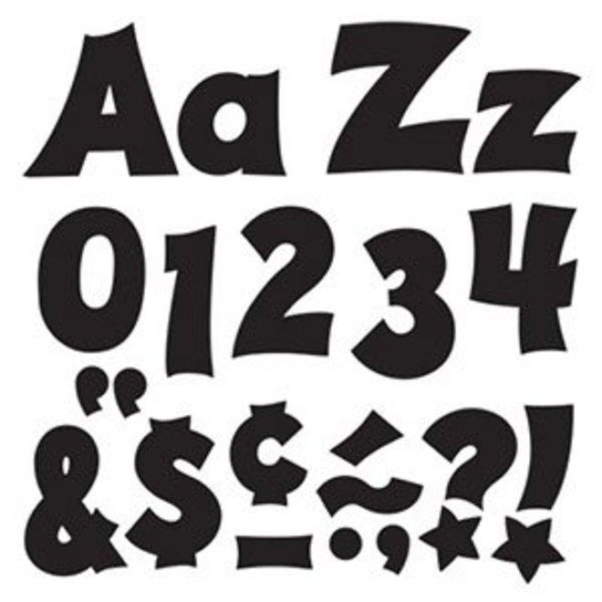"Black 4"" Letters-Friendly"