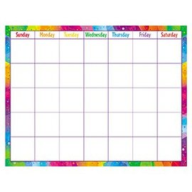 Color Splash Write On/Wipe Off Calendar