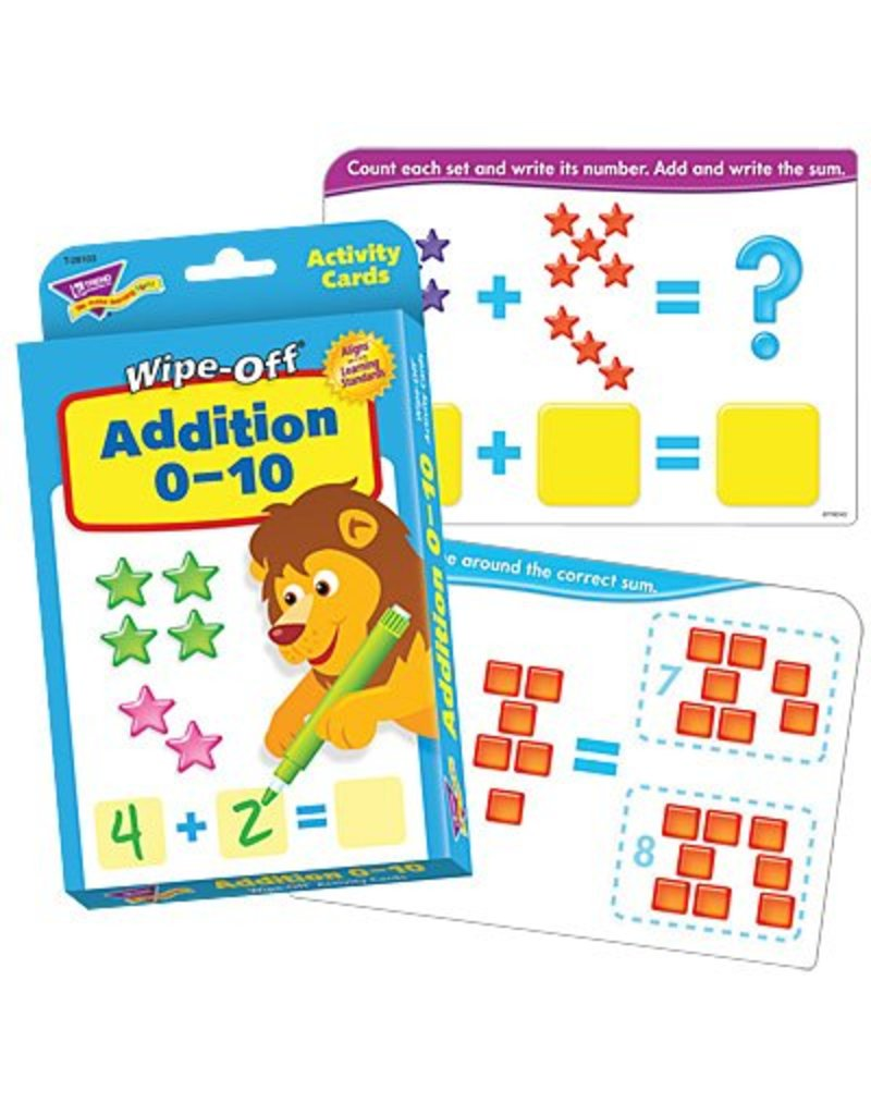 Addition 0-10 Wipe Off Cards