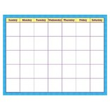 Blue Check Write On/Wipe Off Calendar