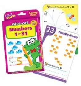 Numbers 1-31 Wipe Off Cards