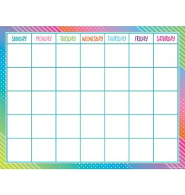 Colorful Vibe Calendar Chart