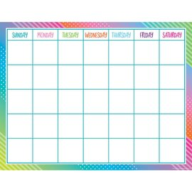 Colorful Vibe Colorful Vibes Calendar Chart