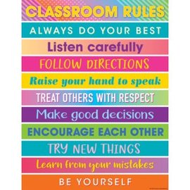 Colorful Vibe Colorful Vibes Classroom Rules Chart