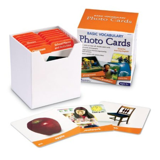 Learning Resources Basic Vocabulary Photo Cards