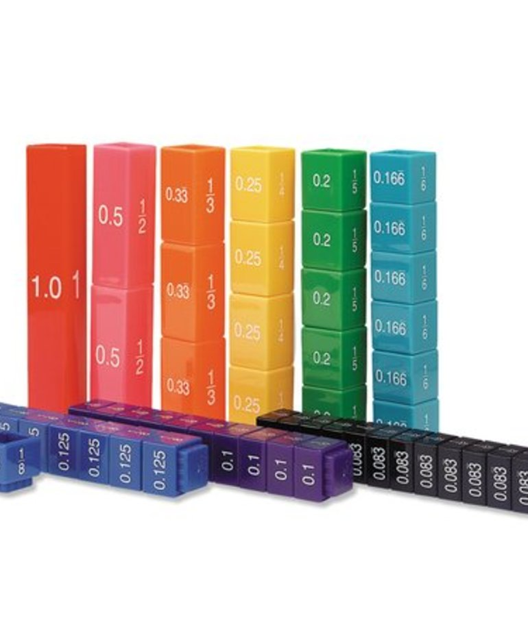 Learning Resources Fraction Tower Equivalency Cubes