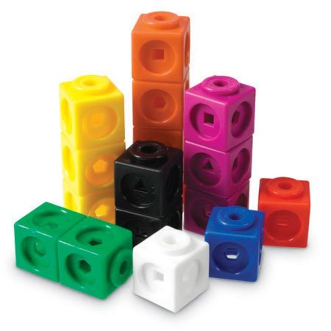 Learning Resources MathLink Cubes, Set of 100