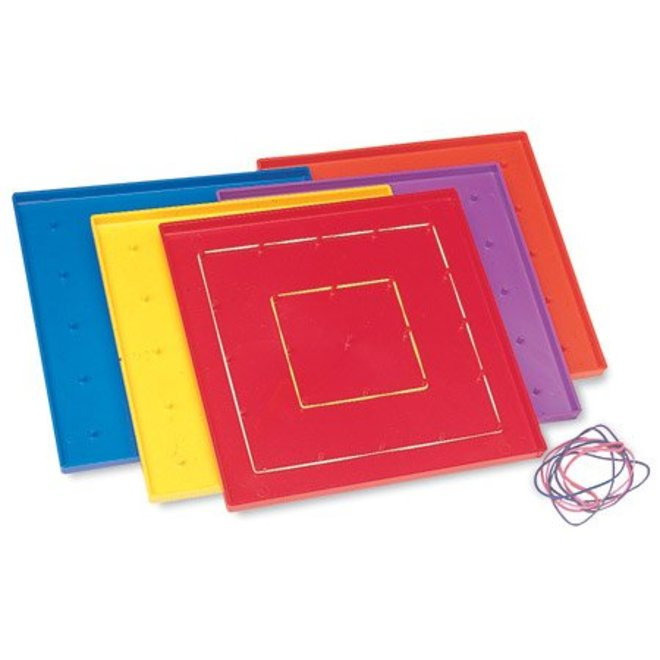 "Learning Resources 7.25"" Assorted Geoboards, Set Of 10"