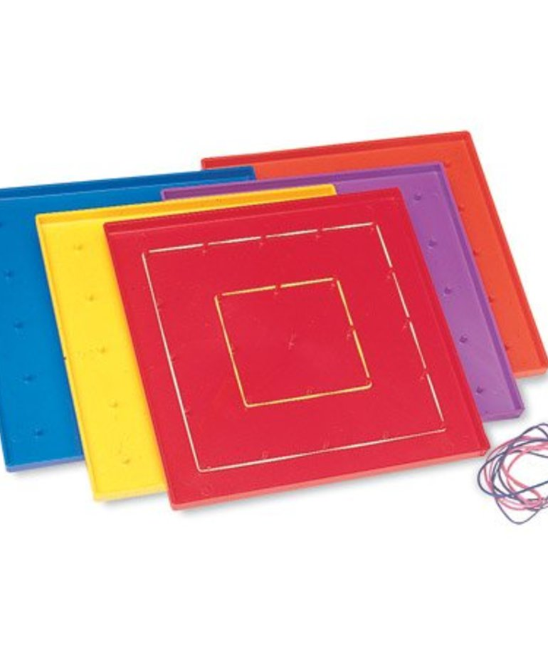 """Learning Resources 7.25"""" Assorted Geoboards, Set Of 10"""