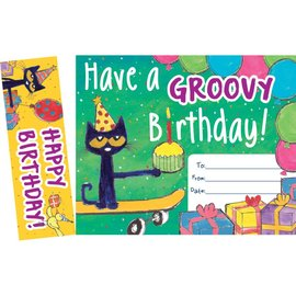Pete the Cat Groovy Birthday Bookmark & Award