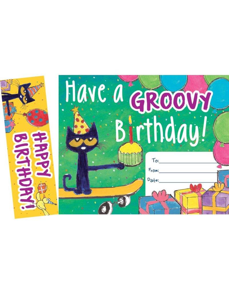 Pete the Cat Groovy Birthday Bookmark & Award