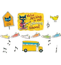 Pete the Cat We're Rocking in Our Learning Shoes..Bulletin Board