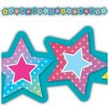 Colorful Vibe Stars Die-Cut Stars Border