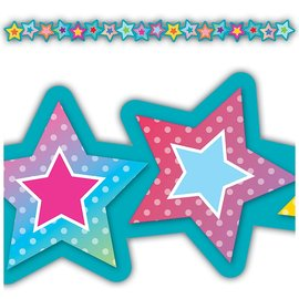 Colorful Vibe Stars Die-Cut Stars Border