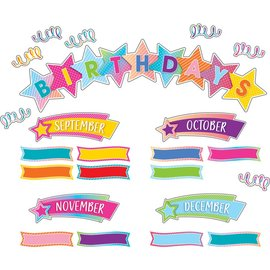 Colorful Vibe Birthday Mini Bulletin Board