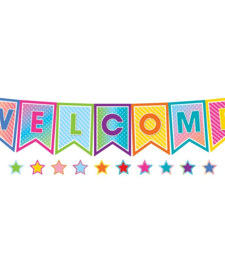 Colorful Vibes Welcome Bulletin Board