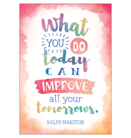 Watercolor What You Do Today...poster
